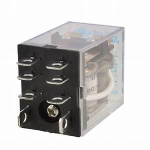 Dc 12v Coil 10a 240vac 28vdc Dpdt Electromagnetic Relay