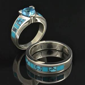 spiderweb turquoise and turquoise wedding ring set style With turquoise wedding ring sets