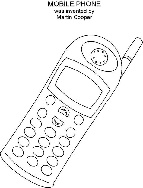 Coloring Mobil by Mobile Phone Coloring Printable