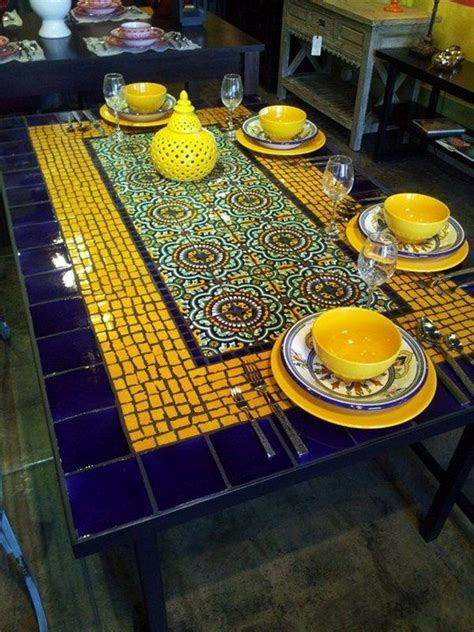 Mosaic Tile Outdoor Table by Here S An Idea For An Outdoor Table Create A Mosaic Tile