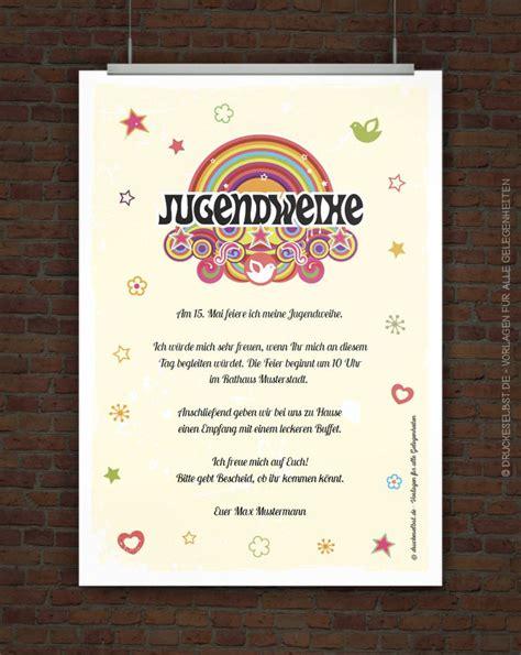 drucke selbst kostenlose einladungskarte zur jugendweihe