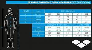 Guide Size Chart Arena Boy 39 S Water Jammer Black