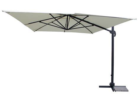 parasol jardin d 233 port 233 en alu quot buffalo luxe quot 3 x 4 m