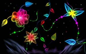 Neon Glow 3D and CG & Abstract Background Wallpapers on
