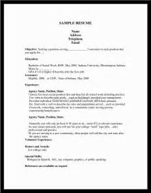 Work Objective For Resume by Doc 12751650 Exle Resume Sle Resume How To Make A Cv For Bizdoska