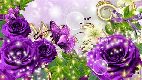 Purple Rose Wallpaper Desktop 18 Background Wallpaper