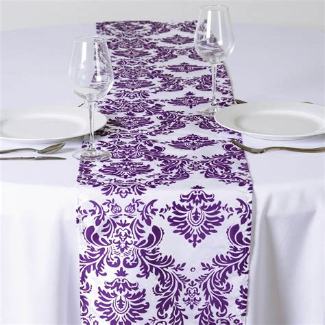 wholesale wedding table runners 30 pcs flocking table runners 12x108 quot wholesale wedding