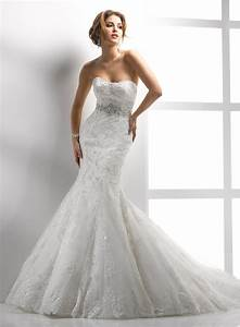 embellished corded lace and tulle strapless scoop neckline With trumpet lace wedding dress