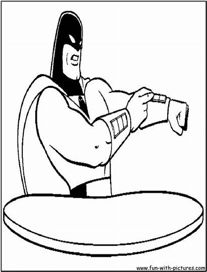 Coloring Pages Ghost Space Spaceghost Fun Colouring
