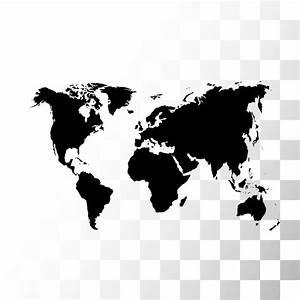 Carte Du Monde Noir : poster vecteur noir carte du monde pixers nous vivons ~ Teatrodelosmanantiales.com Idées de Décoration
