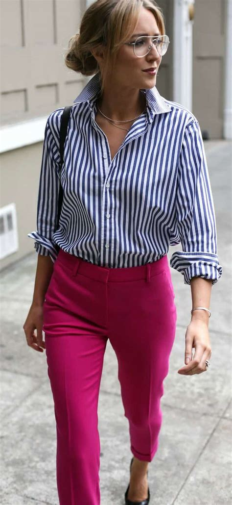Pink pants outfit work 15 best outfits - womenfashionoutfits.com