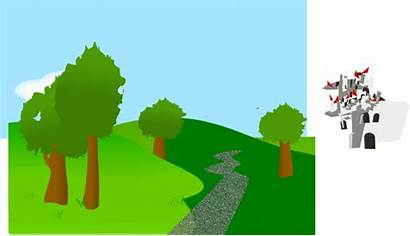 Background Hills Trees Clip Clipart Clker Cliparts