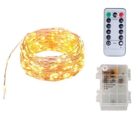 battery operated christmas lights with remote 20ft battery operated mini string light w remote 120 warm white leds copper wire starry