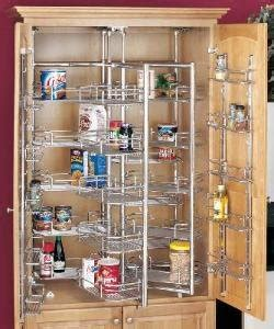 swing out pantry chef s pantry with door baskets chrome