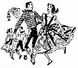 Dance Polka Square Clip Dancing Clipart Polish Cliparts Funny Dancers Hoedown Library Ohio sketch template