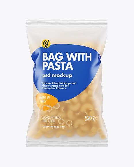 Plastic pouch bag vector transparent pocket wrap with hang empty product polyethylene mock up template nylon doy pack branding design package illustration. Frosted Plastic Bag With Pipe Rigate Pasta Mockup in Bag ...