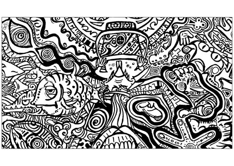 Psychedelic Adult Coloring Pages