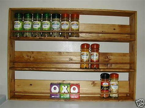 Timber Spice Rack by Wooden Spice Rack Ebay