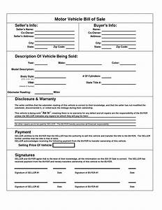 printable car bill of sale pdf bill of sale for motor With free writable resume templates