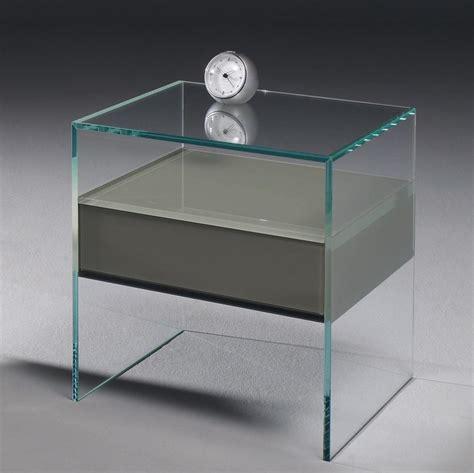 Nachttisch Glas Mit Schublade by Glas Nachttisch Dreieck Design