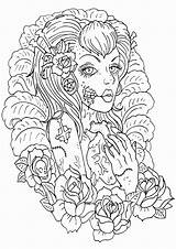 Tattoo Coloring Pages sketch template