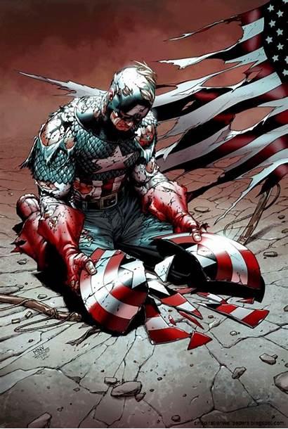 Broken America Shield Captain Adamantium Thread Wallpapers