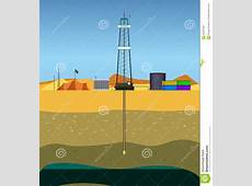 Drilling A Oil Well Middle East Stock Vector