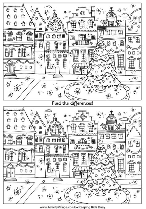 find the differences puzzle snowmen