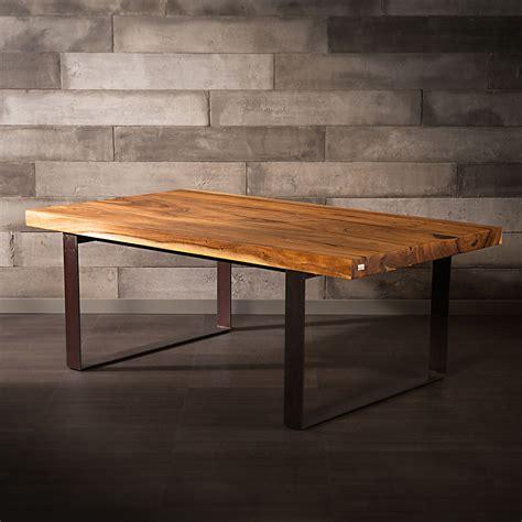 suar wood table metal legs natural