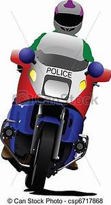Vector of Policeman on police motorcycle on - Policeman on ...