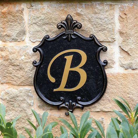 outdoor monogram plaque european inspired home decor ballard designs