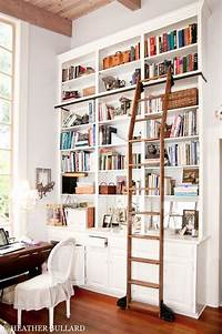 perfect wall ladder bookshelf Library Bookcases with Ladders