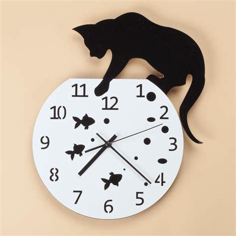 fish bowl cat clock cat clock decorative clock walter drake