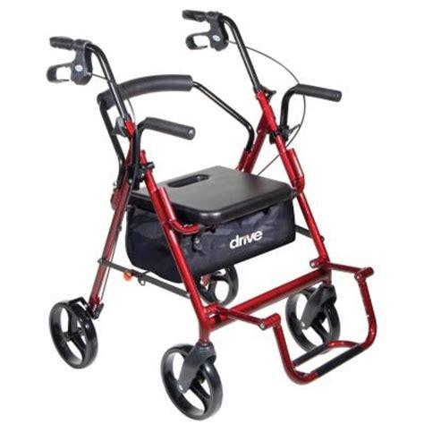 drive duet rollator transport chair combo duet combination rollator walker transport wheelchair