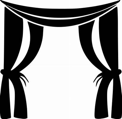 Svg Clipart Curtains Transparent Curtain Window Webstockreview