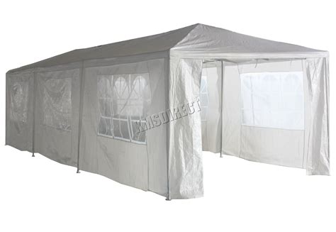 marques canap 3m x 9m white waterproof outdoor garden gazebo tent