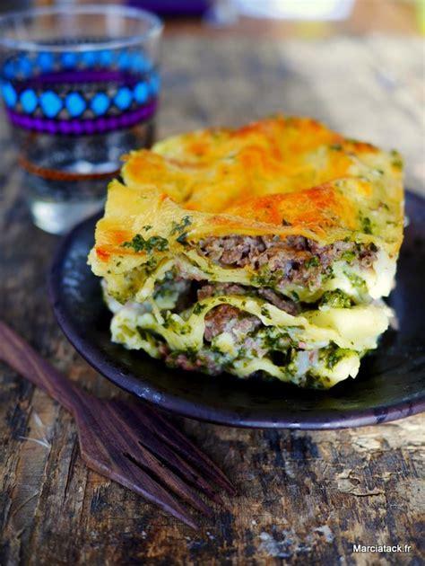 cuisiner epinard en boite lasagnes aux épinards et viande hachées recette marciatack