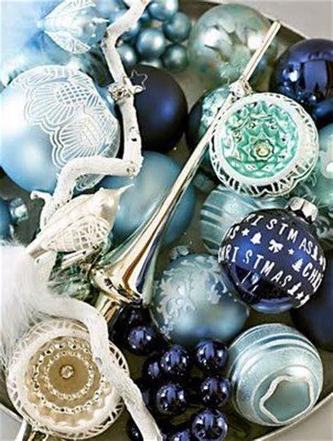 navy blue christmas ornaments winter wonderland