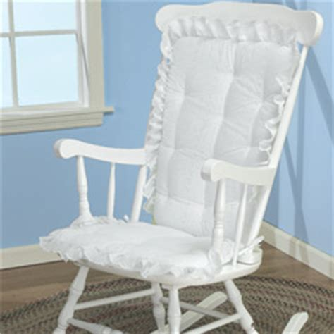 white eyelet rocking chair cushion nursery gliders