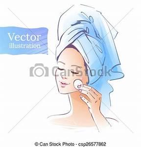 Girl. skin care. vector illustration. isolated. clip art ...