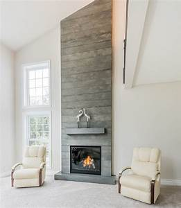 Board-Formed Concrete Fireplace - Brantford, Ontario