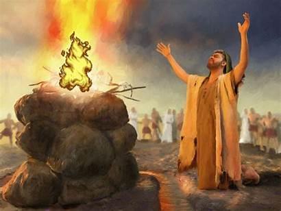 Deus Elijah Fogo Manifesta Quando Elias Salvo