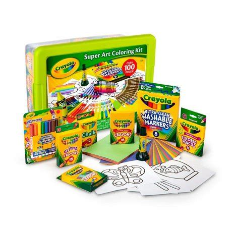 Crayola Super Art Coloring Kit Green