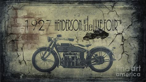 henderson vintage motorcycle poster  cinema photography