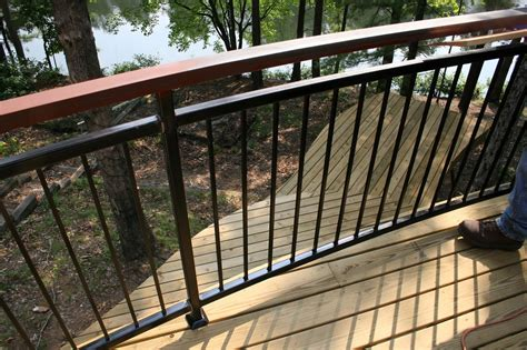 Steel Deck Handrails by 16 Types Of Deck Railing Design Ideas