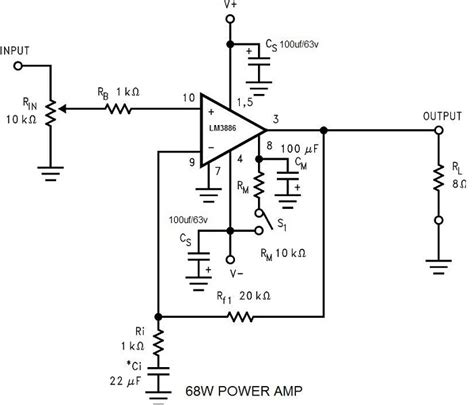 Power Amplifier Electronic Circuit Schematic