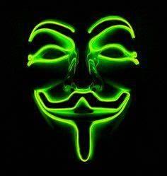 Neon Maske SAW Blau Cool Mania