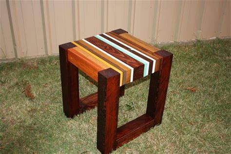 diy wood end table diy pallet lumber unique side table 101 pallets