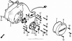 Left Crankcase Cover   Spark Advancer For 1980 Honda Cb750