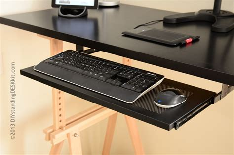 ikea desk keyboard tray how to create your own diy adjustable height standing desk